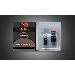 1 vial 5000 IU, 2ml bacteriostatic water ampoule